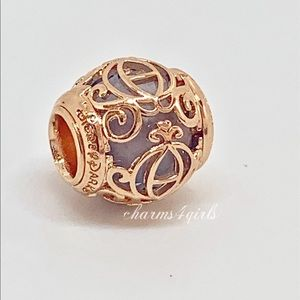 Authentic PANDORA Cinderella Coach RoseGold Plated